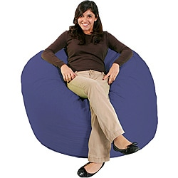 FufSack Purple Blue Bean Bag Chair