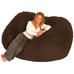 FufSack Chocolate Brown Microfiber Bean Bag Chair