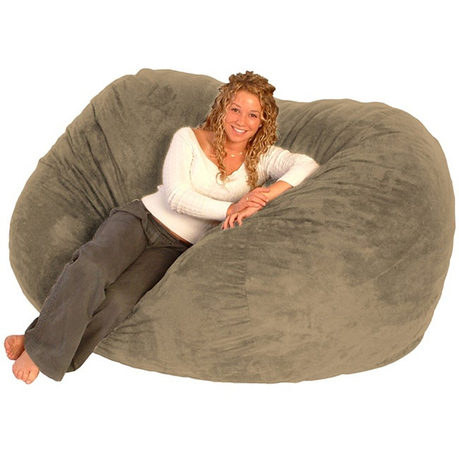FufSack Tan Microfiber 6-foot Bean Bag Chair