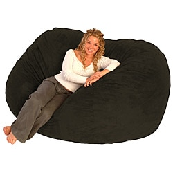 FufSack Black Microfiber 6-foot Bean Bag Chair