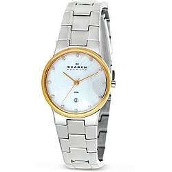 Skagen Women's Stainless-Steel Watch with Mother-of-Pearl Dial