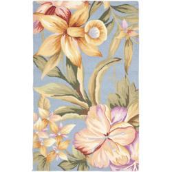 Safavieh Hand-hooked Botanical Blue Wool Rug (1'8 x 2'6)
