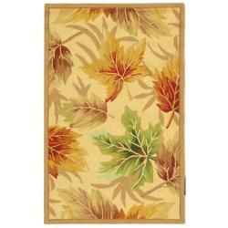 Hand-hooked Fall Ivory Wool Rug (1'8 x 2'6)