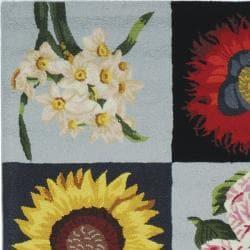 Safavieh Hand-hooked Panels Black Wool Rug (2'6 x 8')