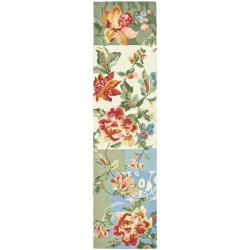 Safavieh Hand-hooked Floral Ivory Wool Rug (2'6 x 12')