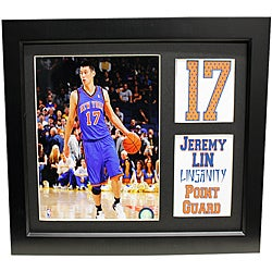 New York Knicks Jeremy Lin Deluxe Stat Frame