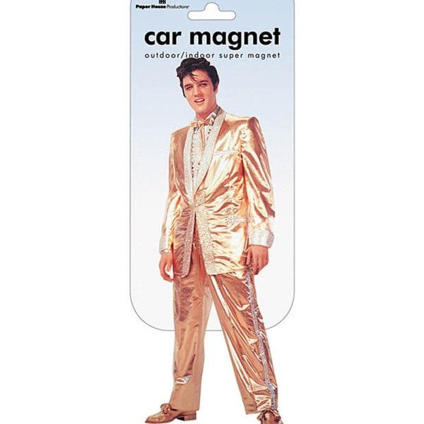 Paper House Elvis Solid Gold Car Magnet