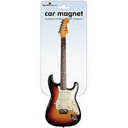 Paper House Fender Stratocaster Car Magnet