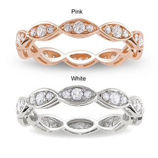 Miadora 14k Gold 1/2ct TDW Diamond Eternity Ring (G-H, I1-I2)