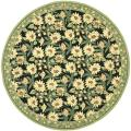 Hand-hooked Summer Nights Black Wool Rug (8' Round)