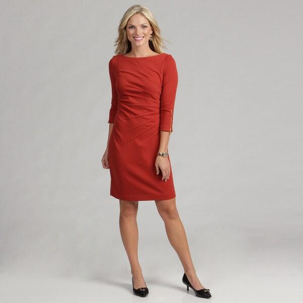 Jessica Howard Women's Rust Starburst Dress