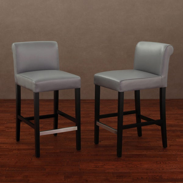 Christopher Knight Home Lisette Leather Counter Stool Set Of 2