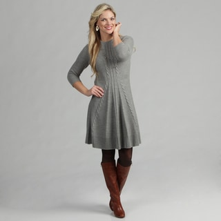 Jessica Howard Women's Cable Knit Detail Sweater Dress