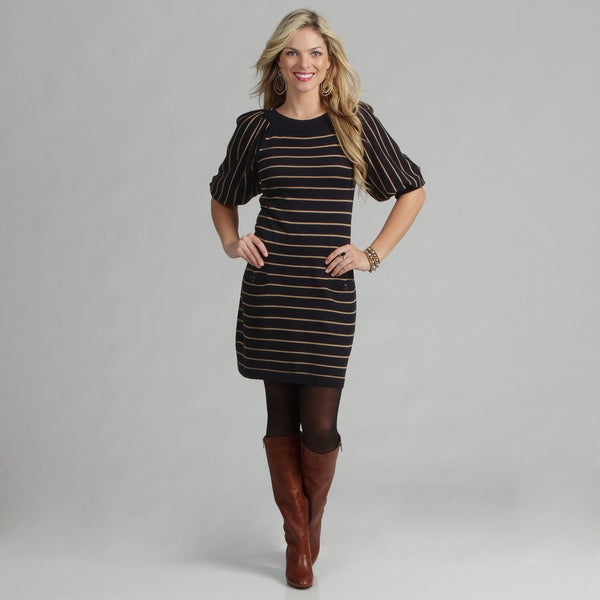 Jessica Howard Women's Striped Sweater Dress