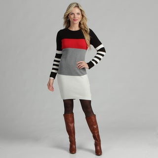 Jessica Howard Women's Colorblock Sweater Dress