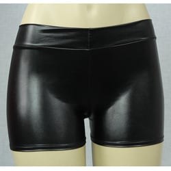 Women's Vinyl-look Black Boyshorts