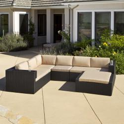 Christopher Knight Home Ventura PE Wicker 5-piece Outdoor Sectional
