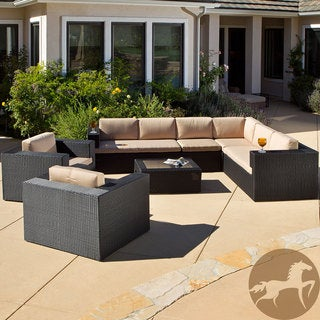 Christopher Knight Home Ventura PE Wicker 7-piece Outdoor Sectional