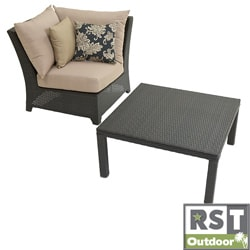 RST Outdoor Delano Corner Section with 33-inch Corner Table