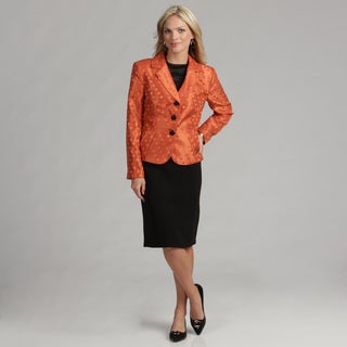 Danillo Women's Copper/ Black Skirt Suit