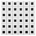 SomerTile 11.75x11.75 Chic Frames White and Black Porcelain Mosaic Tiles (Case of 10)