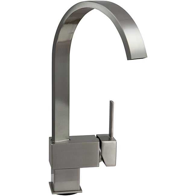 Dyconn 12.5-inch Contemporary Kitchen Brushed Nickel Faucet