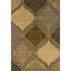 Grey and Gold Transitional Area Rug (6'7 x 9'6)