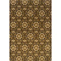 "Gray/Gold Geometric Transitional Area Rug (7'8"" x 10'10"")"