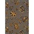 Transitional Polypropylene Gray/ Gold Area Rug (7'8 x 10'10)