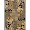 Grey/ Gold Transitional Area Rug (7'8 x 10'10)