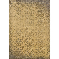 Beige/ Grey Transitional Floral Area Rug (5' x 7'6)