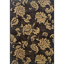 Black/ Beige Transitional Area Rug (6'7 x 9'6)