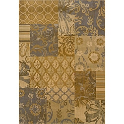 "Modern Gold/Gray Transitional Area Rug (5' x 7'6"")"