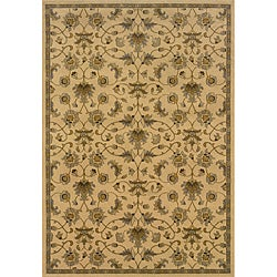 Beige/ Grey Traditional Area Rug (5' x 7'6)