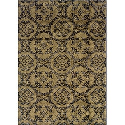 Gray/Black Transitional Polypropylene Area Rug (3'10 x 5'5)