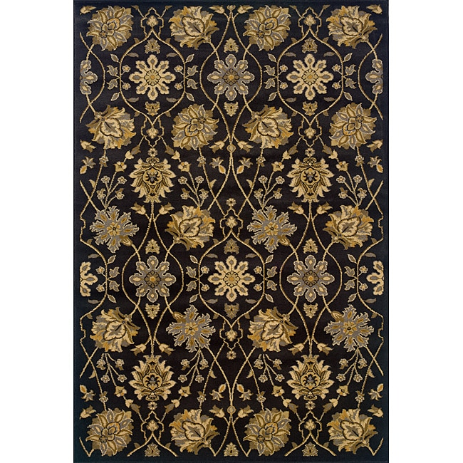 black gold traditional area rug 5 39 x 7 39 6 overstock shopping