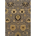 Gray/Gold Floral Transitional Area Rug (7'8