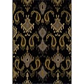 Black/ Grey Transitional Area Rug (5' x 7'6)