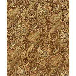 Evan Brown/ Gold Transitional Wool Rug (3'6 x 5'6)