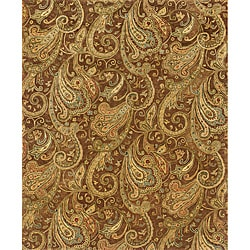 Evan Brown/ Gold Transitional Area Rug (5' x 8'3)