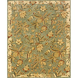 Evan Blue/ Ivory Transitional Area Rug (8'3 x 11'3)