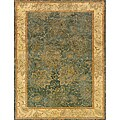 Evan Blue/ Beige Transitional Area Rug (3'6 x 5'6)