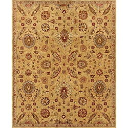 Evan Gold and Rust Traditional Area Rug (7'6 x 9'6)