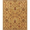 Evan Gold and Rust Traditional Area Rug (8'3 x 11'3)