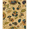 Evan Beige and Green Transitional Area Rug (3'6 x 5'6)