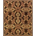 Evan Brown and Rust Transitional Area Rug (8'3 x 11'3)
