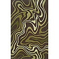 Monrovia Brown/ Green Transitional Area Rug (5' x 8')