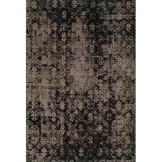 Grey/ Black Area Rug (3'10 x 5'5)