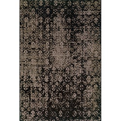 Grey/ Black Area Rug (6'7 x 9'6)