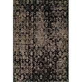 Grey/ Black Area Rug (7'10 x 10'10)
